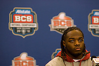 Alabama running back Trent Richardson talks with the reporters during the Alabama Offensive Press Conference at Marriott Hotel at the Convention Center on January 5th, 2011.