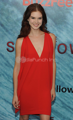 """NEW YORK, NY - June 21:  Emily Tyra attends the NEw York premiere for """"The Shallow"""" at the Loews AMC on June 21, 2016   in New York City .  Photo Credit: John Palmer/ MediaPunch"""