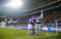 FUSSBALL   1. BUNDESLIGA   SAISON 2011/2012   18. SPIELTAG FC Schalke 04 - VfB Stuttgart            21.01.2012 Schalker Jubel in der Veltins Arena nach dem 3:0