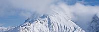 Schneibstein mountain covered in cloud, Berchtesgaden national park, Bavaria, Germany