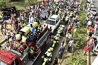 VALLEDUPAR - COLOMBIA - 15-04-2017: Aspecto del sepelio del músico colombiano Martin Elias quien falleció en la mañana de ayer, 14 de abril de 2017, luego de un accidente automovilístico cuando pasaba por el corregimiento Aguas Negras, en jurisdicción del municipio de San Onofre, en el norte del departamento de Sucre, Colombia. Martin Elias es uno de los hijos del fallecido Cacique de la Junta, Diomedes Diaz, famoso cantante vallenato. / Aspect of the burial of Colombian musician Martin Elias who died in the morning yesterday, April 14, 2017, after a car accident as he passed through the town of Aguas Negras, in the jurisdiction of the municipality of San Onofre, in the north of the department of Sucre, Colombia. Martin Elias is one of the children of the deceased Chief of the Board, Diomedes Díaz, famous vallenato singer.  Photo: VizzorImage/ Jairo Cassiani /CONT