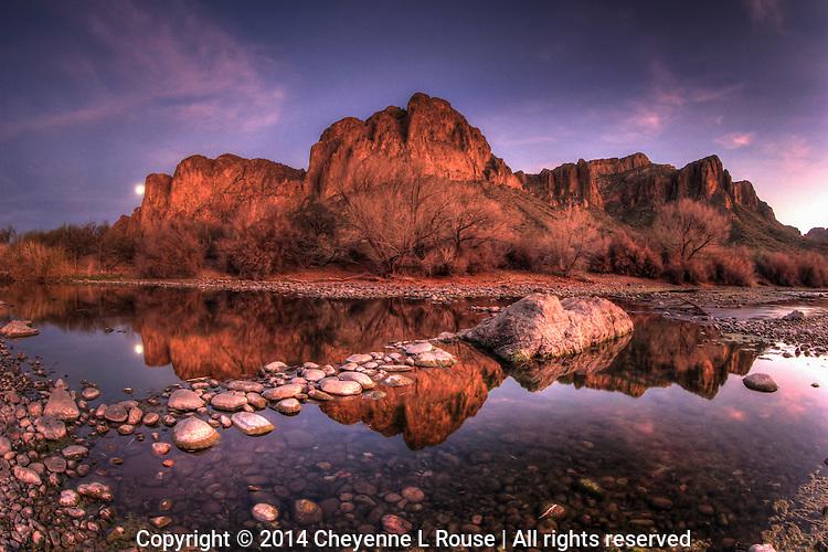 Moon River - Full Moon - Salt River, Arizona
