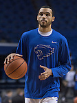 Guard Mychal Mulder wearing the new warm up uniforms before the game against the Florida Gators at Rupp Arena on February 6, 2016 in Lexington, Kentucky. Kentucky defeated Florida 80-61.