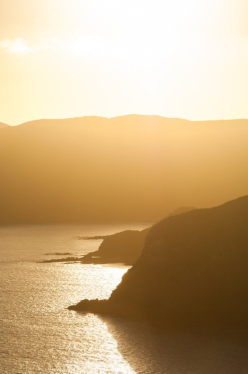 The view south from Nugget Point, Coastal Otago, South Island, New Zealand - stock photo, canvas, fine art print