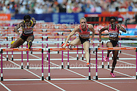 Sally Pearson of Australia in the Womens 100m Hurdles race at the Sainsbury Anniversary Games, Olympic Stadium, London England, Saturday 27th July 2013-Copyright owned by Jeff Thomas Photography-www.jaypics.photoshelter.com-07837 386244. No pictures must be copied or downloaded without the authorisation of the copyright owner.