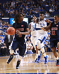 UK forward Nerlens Noel runs after Samford guard Russell Wilson during the second half of the men's basketball game vs. Samford at Rupp Arena in Lexington, Ky., on Tuesday, December 4, 2012. Photo by Emily Wuetcher | Staff..