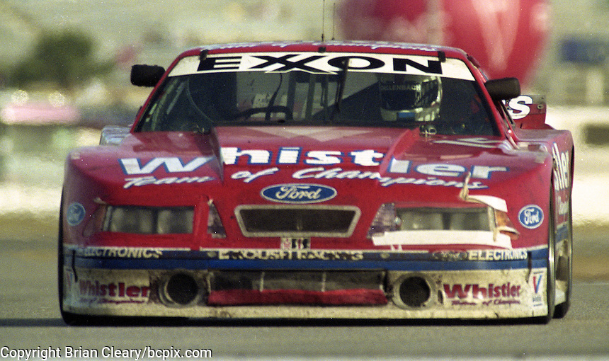 The #15 Roush Ford Mustang of Max Jones, Robby Gordon, Wally Dallenbach Jr., and Dorsey Schroeder  the 24 Hours of Daytona, Daytona International Speedway, Daytona Beach, FL, February 2, 1992.  (Photo by Brian Cleary/www.bcpix.com)