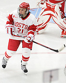 Samantha Pulley (BU - 21) - The Boston University Terriers defeated the visiting University of Windsor Lancers 4-1 in a Saturday afternoon, September 25, 2010, exhibition game at Walter Brown Arena in Boston, MA.