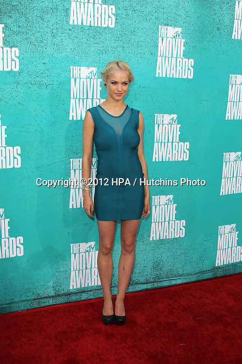 LOS ANGELES - JUN 3:  Alexis Napp arriving at the 2012 MTV Movie Awards at Gibson Ampitheater on June 3, 2012 in Los Angeles, CA