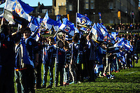 A general view of the half-time parade. Aviva Premiership match, between Bath Rugby and London Irish on March 5, 2016 at the Recreation Ground in Bath, England. Photo by: Patrick Khachfe / Onside Images