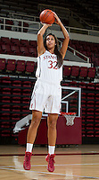 Kailee Johnson with Stanford Women's basketball team. Photo taken on Wednesday, October 2, 2013