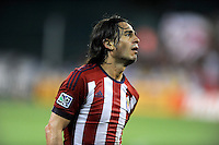 Washington, D.C.- July 20, 2014. Mauro Rosales (7) of Chivas USA.  D.C. United defeated Chivas USA 3-1 during a Major League Soccer Match for the 2014 season at RFK Stadium.