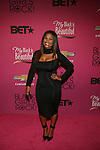 """Actress Nia Long Wearing Miguel Antoinne LBD and Saint Laurent Ankle Strap Point Toe Pumps  Attends """"BLACK GIRLS ROCK!"""" Honoring legendary singer Patti Labelle (Living Legend Award), hip-hop pioneer Queen Latifah (Rock Star Award), esteemed writer and producer Mara Brock Akil (Shot Caller Award), tennis icon and entrepreneur Venus Williams (Star Power Award celebrated by Chevy), community organizer Ameena Matthews (Community Activist Award), ground-breaking ballet dancer Misty Copeland (Young, Gifted & Black Award), and children's rights activist Marian Wright Edelman (Social Humanitarian Award) Hosted By Tracee Ellis Ross and Regina King Held at NJ PAC, NJ"""