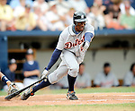 11 March 2008: Detroit Tigers' outfielder Curtis Granderson in action during a Spring Training game against the Cleveland Indians at Chain of Lakes Park, in Winter Haven Florida. The Tigers rallied to defeat the Indians 4-2 in the Grapefruit League matchup...Mandatory Photo Credit: Ed Wolfstein Photo