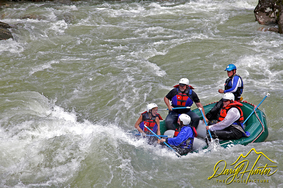 Whitewater rafting on the Gallatin River outside Big Sky Montana