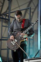 LONDON, ENGLAND - JULY 17: J&oacute;n &THORN;&oacute;r Birgisson of 'Sigur R&oacute;s' performing at Citadel, Victoria Park on July 17, 2016 in London, England.<br /> CAP/MAR<br /> &copy;MAR/Capital Pictures /MediaPunch ***NORTH AND SOUTH AMERICAS ONLY***