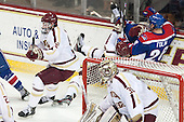 Kevin Hayes (BC - 12), Thatcher Demko (BC - 30), Steven Santini (BC - 6), Christian Folin (UML - 26) - The Boston College Eagles defeated the visiting University of Massachusetts Lowell River Hawks 3-0 on Friday, February 21, 2014, at Kelley Rink in Conte Forum in Chestnut Hill, Massachusetts.
