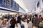 Crowded with people Narita International airport Arrivals, Japan