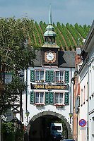 Rudesheim am Rhein, Hessen, Germany, July 2010. Hotel Lindenwirt. Rüdesheim is a winemaking town in the Rhine Gorge and thereby part of the UNESCO World Heritage Site. The fertile river valleys and the rolling hills form the basis for some of Germany's best wines.  Photo by Frits Meyst / Adventure4ever.com