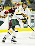 16 October 2010: University of Vermont Catamount forward Teddy Fortin, a Senior from Brunswick, ME, in action against the Boston College Eagles at Gutterson Fieldhouse in Burlington, Vermont. The Lady Cats fell to the visiting Eagles 4-1 in the second game of their weekend series. Mandatory Credit: Ed Wolfstein Photo