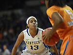 UK guard Bria Goss defends the ball during the second half of the UK Hoops vs. Tennessee at Memorial Coliseum in Lexington, Ky., on Sunday, March 3, 2013. Photo by Emily Wuetcher | Staff....