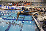 18 February 2016: Notre Dame's Tayde Revilak Fonseca competes in the Women's 50 Freestyle preliminary Heat 7. The 2016 Atlantic Coast Conference Swimming and Diving Championships were held at the Greensboro Aquatic Center in Greensboro, North Carolina from February 17-27, 2016.