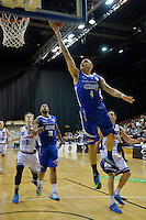 Lindsay Tait in action during the NBL Final Four - Saints v Giants at TSB Bank Arena, Wellington, New Zealand on Friday 4 July 2014. <br /> Photo by Masanori Udagawa. <br /> www.photowellington.photoshelter.com.