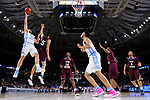 GREENVILLE, SC - MARCH 17: Luke Maye (32) of the University of North Carolina puts up a shot over Stephan Bennett (15) of Texas Southern University during the 2017 NCAA Men's Basketball Tournament held at Bon Secours Wellness Arena on March 17, 2017 in Greenville, South Carolina. (Photo by Grant Halverson/NCAA Photos via Getty Images)