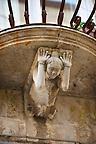Palazzo La Rocca Baroque sculpted balcony corbels, Ragusa Ibla, Sicily