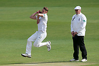 Jamie Porter in bowling action for Essex during Essex CCC vs Hampshire CCC, Specsavers County Championship Division 1 Cricket at The Cloudfm County Ground on 20th May 2017