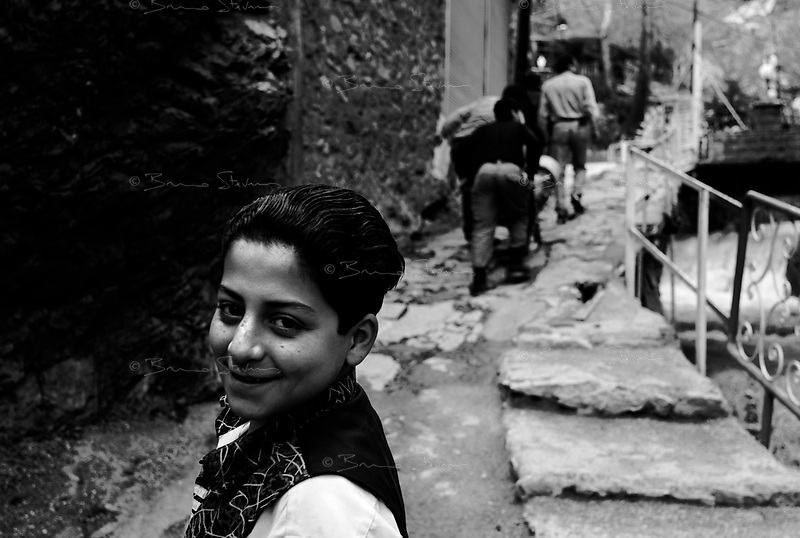 Darband, Iran, April 11, 2007.Darband valley in the northern outskirts of Teheran is a popular promenade, a steep path along a whitewater creek rushing down Alborz mountains.