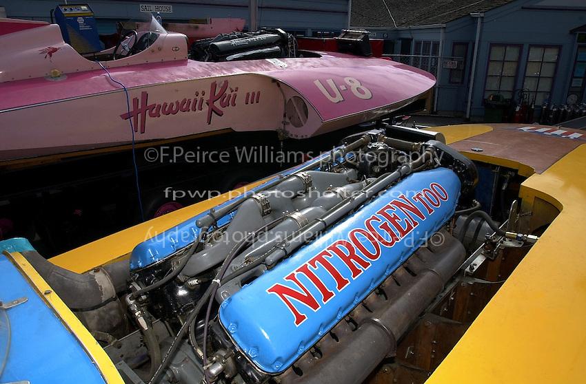 """U-8 """"Hawaii Kai III"""" (b.1956) and U-79/2 """"Nitrogen Too"""" (b.1960) in the pits."""