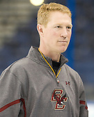 Greg Brown (BC - Assistant Coach) - The Boston College Eagles practiced on Wednesday, April 4, 2012, during the 2012 Frozen Four at the Tampa Bay Times Forum in Tampa, Florida.
