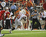 Texas'  Malcolm Brown (28) scores vs. Ole Miss at Vaught-Hemingway Stadium in Oxford, Miss. on Saturday, September 15, 2012. Texas won 66-21. Ole Miss falls to 2-1.