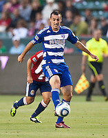 CARSON, CA – June 18, 2011: FC Dallas midfielder Andrew Jacobson (4) during the match between Chivas USA and FC Dallas at the Home Depot Center in Carson, California. Final score Chivas USA 1, FC Dallas 2.