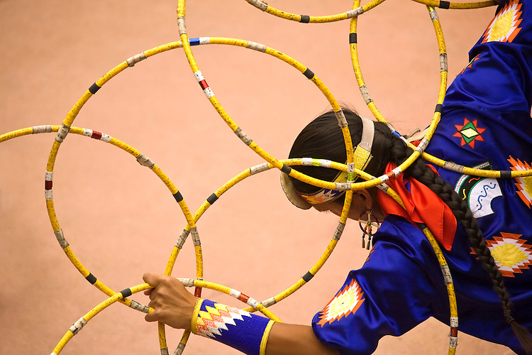 A Native American hoop dancer, Tony Duncan