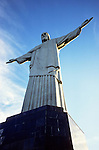 Rio de Janeiro, Brazil. Christ statue and the Corcovado mountain viewed from below.