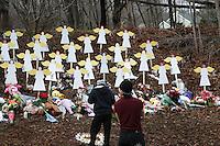 SandyHook Massacare Aftermath in Newton, Conneciticut