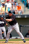 14 March 2006: Mike Kinkade, infielder for the Florida Marlins, at bat during a Spring Training game against the Washington Nationals. The Marlins defeated the Nationals 2-1 at Space Coast Stadium, in Viera, Florida...Mandatory Photo Credit: Ed Wolfstein..