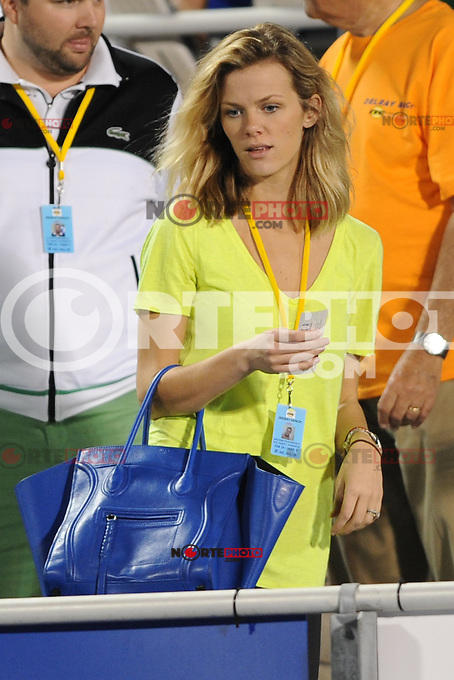 DELRAY BEACH - MARCH 1:  Brooklyn Decker is sighted during her husband Andy Roddick's match at the ITC championship held at the Delray Beach Tennis Center on March 1, 2012 in Delray Beach, Florida. © mpi04 / Media Punch Inc.