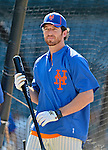 24 July 2012: New York Mets first baseman Ike Davis awaits his turn in the batting cage prior to a game against the Washington Nationals at Citi Field in Flushing, NY. The Nationals defeated the Mets 5-2 to take the second game of their 3-game series. Mandatory Credit: Ed Wolfstein Photo