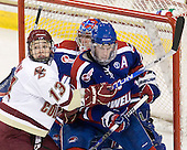 Cam Atkinson (BC - 13), Marc Boulanger (Lowell - 1), Maury Edwards (Lowell - 7) - The Boston College Eagles defeated the visiting University of Massachusetts-Lowell River Hawks 5-3 (EN) on Saturday, January 22, 2011, at Conte Forum in Chestnut Hill, Massachusetts.