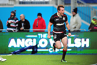 Nick Tompkins of Saracens celebrates his first half try. Anglo-Welsh Cup match, between Saracens and Leicester Tigers on February 5, 2017 at Allianz Park in London, England. Photo by: Patrick Khachfe / JMP