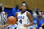 25 November 2014: Duke's Sierra Calhoun. The Duke University Blue Devils hosted the State University of New York Buffalo Bulls at Cameron Indoor Stadium in Durham, North Carolina in a 2014-15 NCAA Division I Women's Basketball game. Duke won the game 88-54.