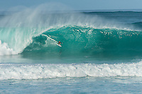 North Shore, Oahu, Hawaii (Friday, November 29, 2013) Alex Gray (USA). –  The swell jumped overnight to 15'-20' from the North West. Pipeline was main spot on the North Shore with the contest on at Sunset. Waves were in the triple overhead range with 2nd and #rd reef breaking at Pipe. Photo: joliphotos.com