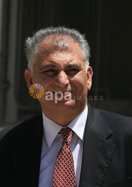 the secretary general of El-Shaeb barty, Bassam El-Salhi. Photo by Issam Rimawi