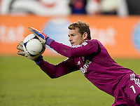 Dan Kennedy (1) of Chivas USA makes a save during the game at RFK Stadium in Washington, DC.  D.C. United defeated Chivas USA, 1-0.