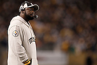 PITTSBURGH, PA - NOVEMBER 06:  Head coach Mike Tomlin of the Pittsburgh Steelers watches his team play against the Baltimore Ravens during the game on November 6, 2011 at Heinz Field in Pittsburgh, Pennsylvania.  (Photo by Jared Wickerham/Getty Images)