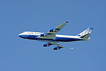 United Airlines Boeing 747 in flight