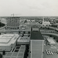 1970 June 08..Historical...Downtown South (R-9)..Norfolk, Va Looking over part of the Civic Center at construction of the new School Administration and Juvenile Courts Building..Millard Arnold.NEG# MDA70-63-1.NRHA#..